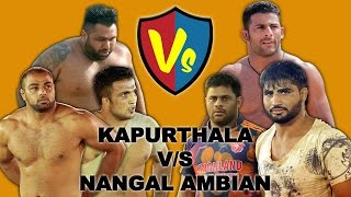 Kapurthala V/S Nangal Ambian  Best Match in Nadala (Kapurthala) Kabaddi Tournament