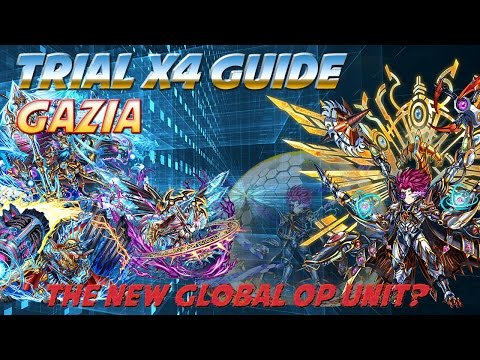 Milko Gaming : Brave Frontier Gazia Trial X4 1st Clear 1 Squad