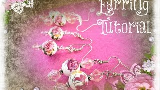 DIY How to Make Wire Wrapped Dangle Earrings Tutorial for Mother's Day