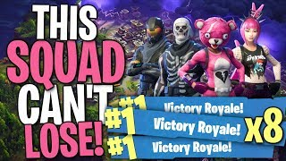 WORLD'S BIGGEST FORTNITE NOOBS WENT ON A WIN STREAK THAT YOU'LL NEVER FORGET!!