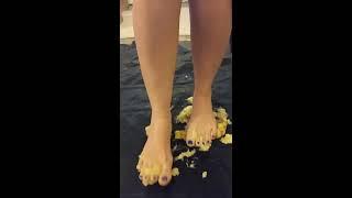 Candice Can Crush A Banana Barefoot