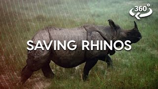 Relocating A 3-ton Rhino In Nepal (360 Video)