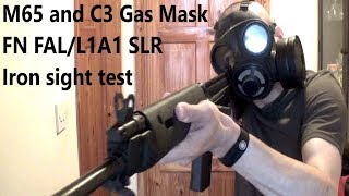 M65 and C3 Gas Mask FAL/SLR Iron Sight test