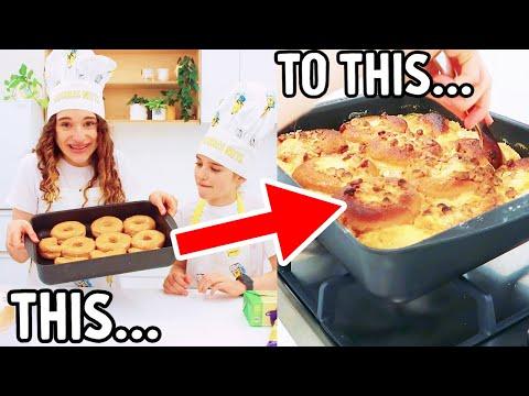 COOKING A VIRAL TIKTOK DONUT BAKE w Sabre and Naz