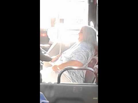 Nasty bitch on Lynx bus!