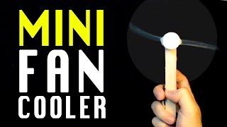 Ho to make a Mini Fan Air cooler | Homemade electric fan | DIY Fan