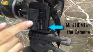 How to Connect Camera to TV using Mini HDMI adapter