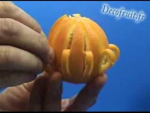 Décoration d une orange
