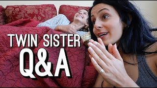 Are You Guys Really Twins? | Q&A ft. My Sister