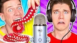 Guess That ASMR Sound w/ Octopus, Raw Honeycomb, DIY Slime & Aloe Vera Challenge