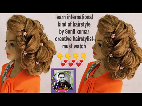 Xxx Mp4 International Hairstyle By Sunil Kumar Creative Hairstylist Latest Side Updo Hairstyle Updo Style 3gp Sex
