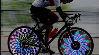 Colorful Rainbow Wheel Signal Lights LED bike wheel light LED Bike Spoke light Freeshipping