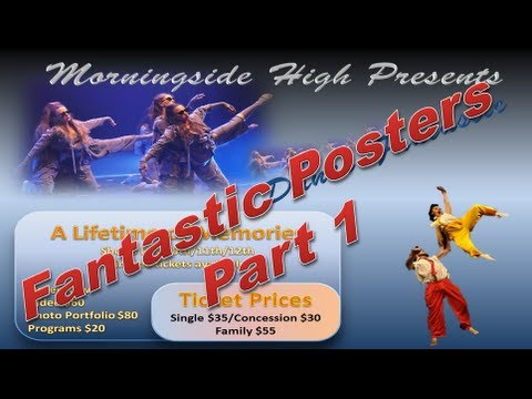 Make Poster Design a Poster like a Pro in Powerpoint 2010 Part 1