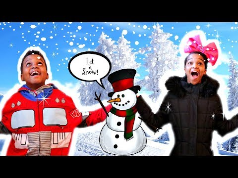 Shiloh and Shasha MAKE SNOW Onyx Family
