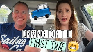 DRIVING FOR THE FIRST TIME?! | CAR VLOG |