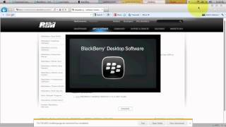 How to install the BlackBerry Desktop Software onto PC