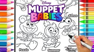 Muppet Babies Coloring Page   Disney Jr. Muppet Babies Coloring Book   Glitter Art   Rainbow Colors
