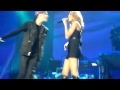 Justin Bieber Feat. Miley Cyrus - Overboard Live Full @ MSG HQ!