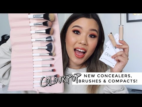 NEW Colourpop Concealers & Brushes • First Impressions Review Demo