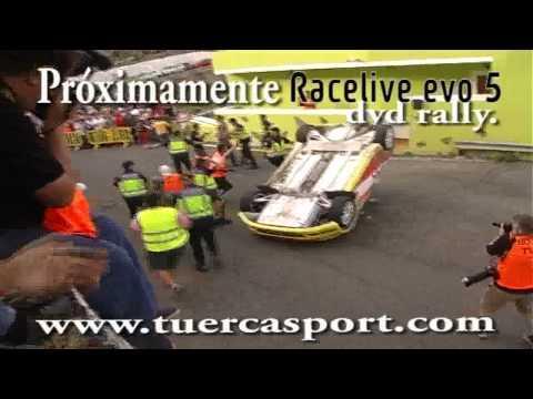 Accidente Armando Suzuki y Más. Rally islas canarias subida san Miguel 2010
