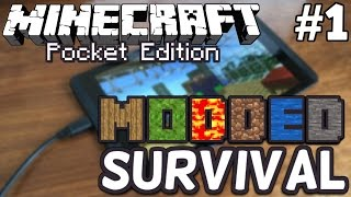 Minecraft Pocket Edition Modded Survival Let's Play [1]