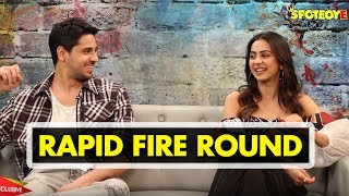 Sidharth Malhotra and Rakul Preet Singh Rapid Fire Round   Aiyaary   SpotboyE