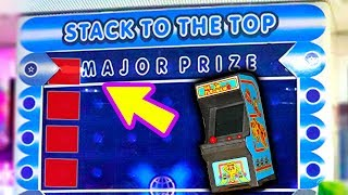 I Won the Stacker Major Prize! | Arcade Game & Prize Machine Wins - Matt3756