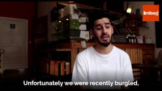 Muslim coffee shop owner forgives burglar who broke into their shop