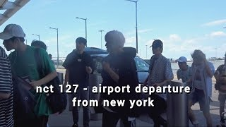 NCT 127 『 AIRPORT DEPARTURE 』 LEAVING KCON NY 170625