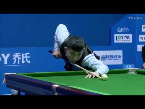 Zheng Yubo - Flying Cue Ball on His Break