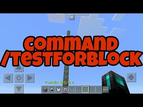 Como usar [/testforblock] no Minecraft Pocket Edition 1.0.5.3
