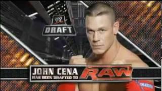 John Cena Drafted back to Raw - WWE Draft 2011 Raw 4/25/11