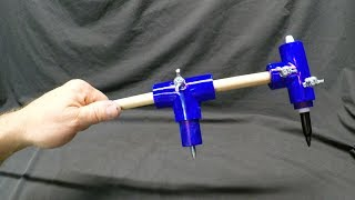 How to Make an Extreme Circle Beam Compass out to 8 ft Diameters for $4