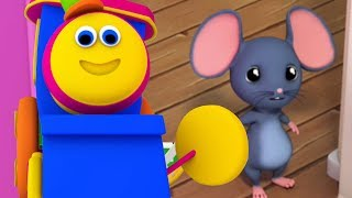 Bob der Zug | Hickory Dickory Dock | Uhr und Maus Reim | Top-Deutsch Reime | German Rhymes For Kids