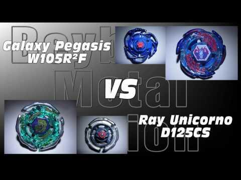 Galaxy Pegasis W105R²F VS Ray Unicorno D125CS AMVBB Beyblade Battle