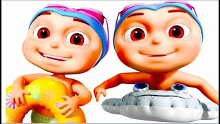 Zool Babies Swimming In A Pool (Single) | Nursery Rhymes For Children | Five Little Babies