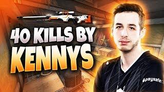 CS:GO - kennyS 40 kills on Train @ FACEIT