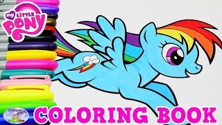 My Little Pony Coloring Book MLP Rainbow Dash Episode Surprise Egg and Toy Collector SETC