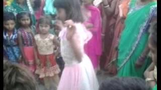 Village wedding Dance in little Girl