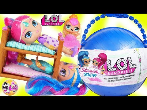 Xxx Mp4 LOL Surprise Dolls Lil Sisters Open GIANT Shimmer And Shine Big Surprise Ball DIY Customized Toy 3gp Sex
