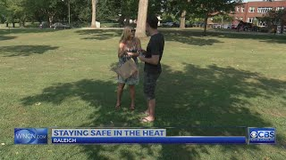 People try to stay cool during NC