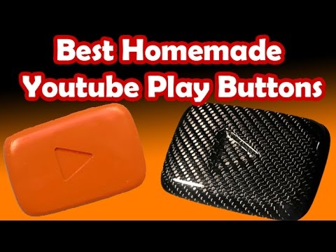 8 Best Homemade Youtube Play Button Awards (Custom Made. DIY youtube playbutton)