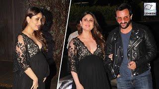 Kareena Kapoor Sizzles In Black At Manish Malhotra Birthday Party | LehrenTV