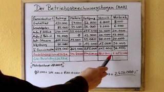 Betriebsabrechnungsbogen (BAB) - verständlich erklärt Teil 1 (Full)