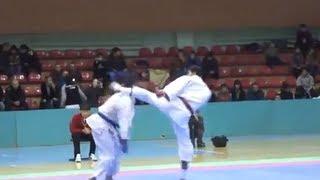 Brutal Karate Kick Knockout