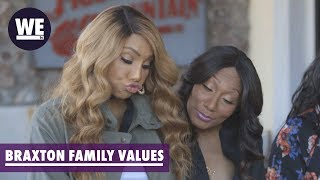 'The Sisters Fight Over a Chair!' Deleted Scene | Braxton Family Values | WE tv
