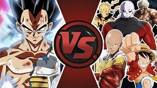 ULTRA INSTINCT VEGETA vs THE WORLD (Ultra Instinct Vegeta vs Jiren, Saitama, Luffy Naruto) Animation