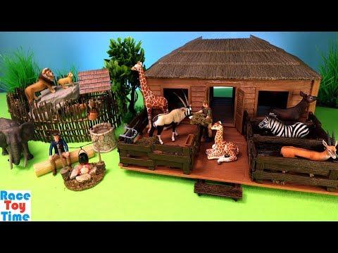 Schleich Safari Animal Nursery Playset and Fun Animals Toys For Kids