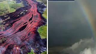 Hawaii volcano eruption: STUNNING photos  of rainbow appearing inside Kilauea crater - The News