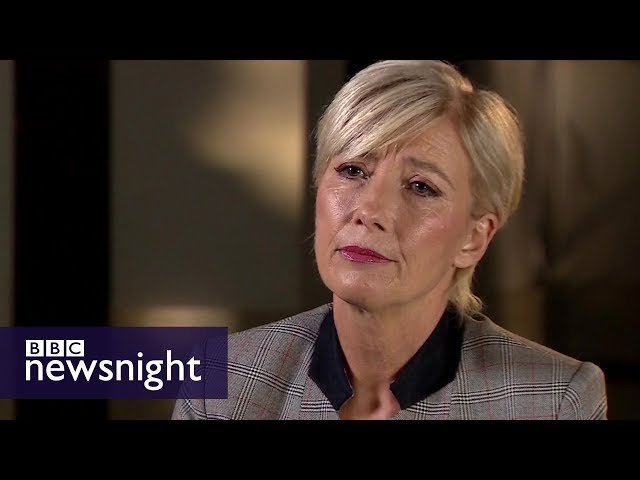 Emma Thompson: Harvey Weinstein 'top of harassment ladder' - BBC Newsnight
